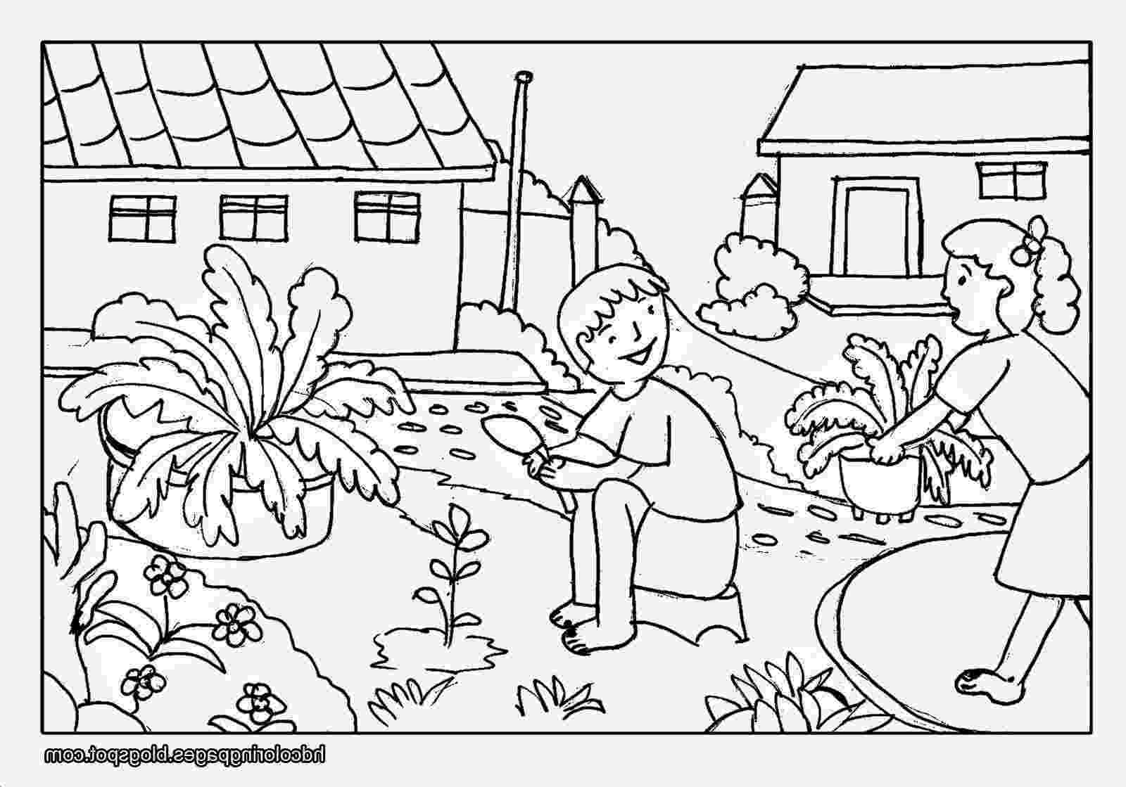 sceneries pictures for colouring natural scenery drawing at getdrawings free download pictures sceneries for colouring