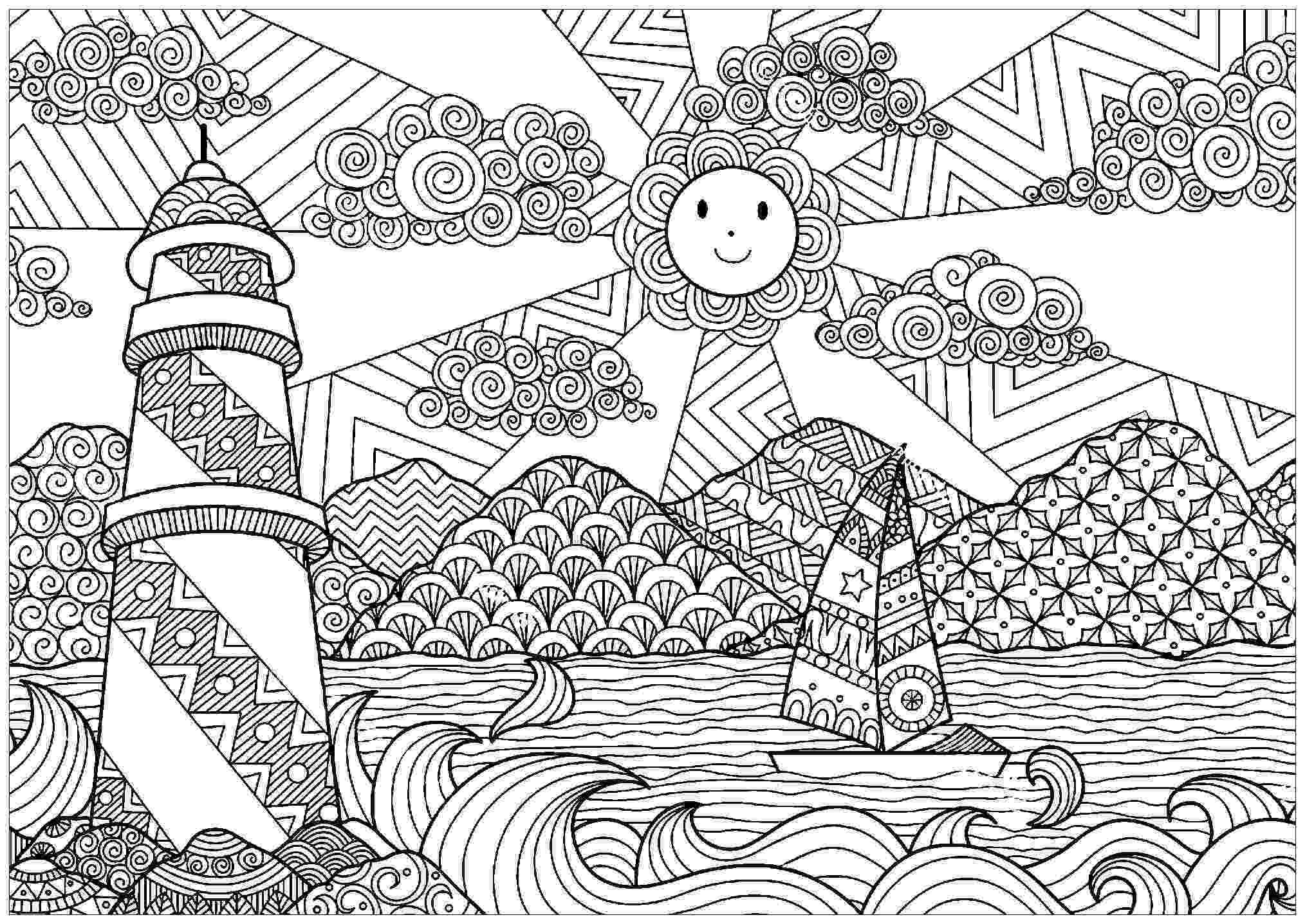 sceneries pictures for colouring natural scenery drawing at getdrawingscom free for for colouring sceneries pictures