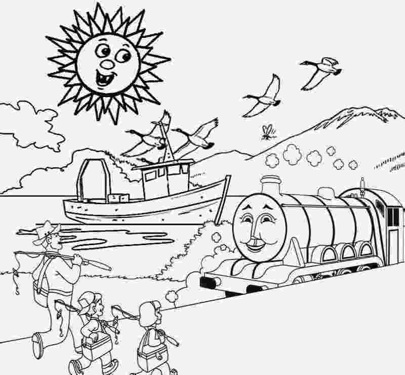 sceneries pictures for colouring natural scenery drawing at getdrawingscom free for sceneries colouring for pictures