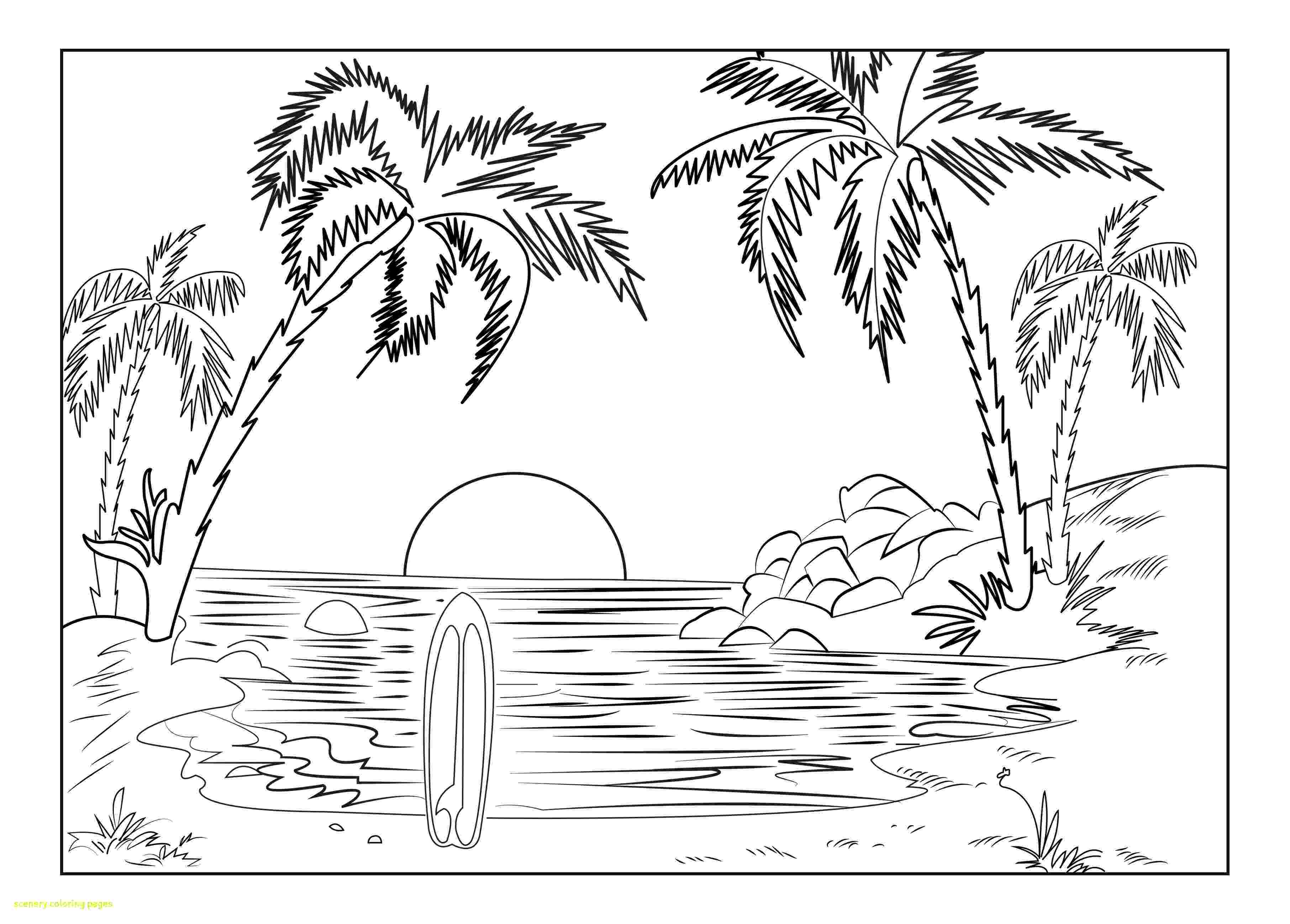 sceneries pictures for colouring sceneries pictures for colouring sceneries colouring for pictures