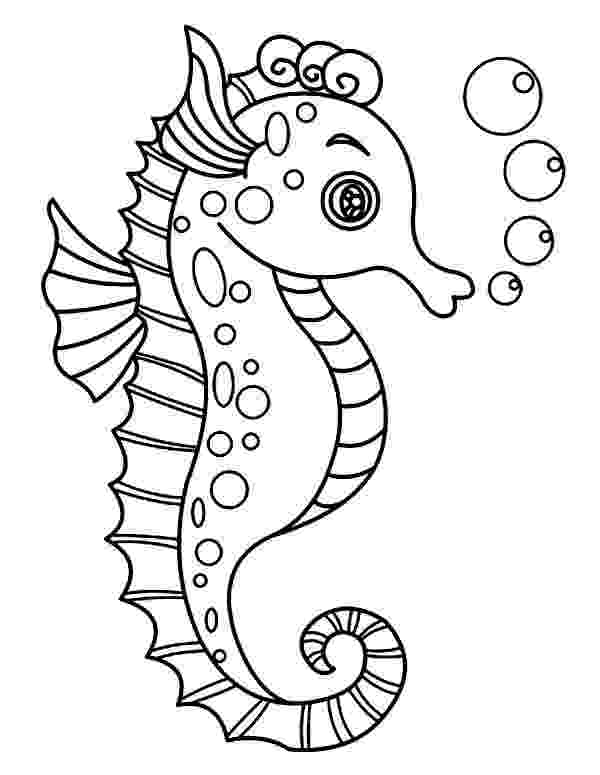 sea horse coloring pages free printable seahorse coloring pages for kids sea horse coloring pages