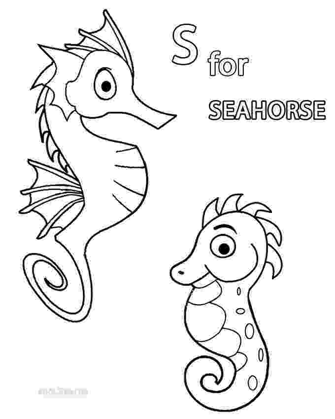 sea horse coloring pages printable seahorse coloring pages for kids cool2bkids horse sea coloring pages
