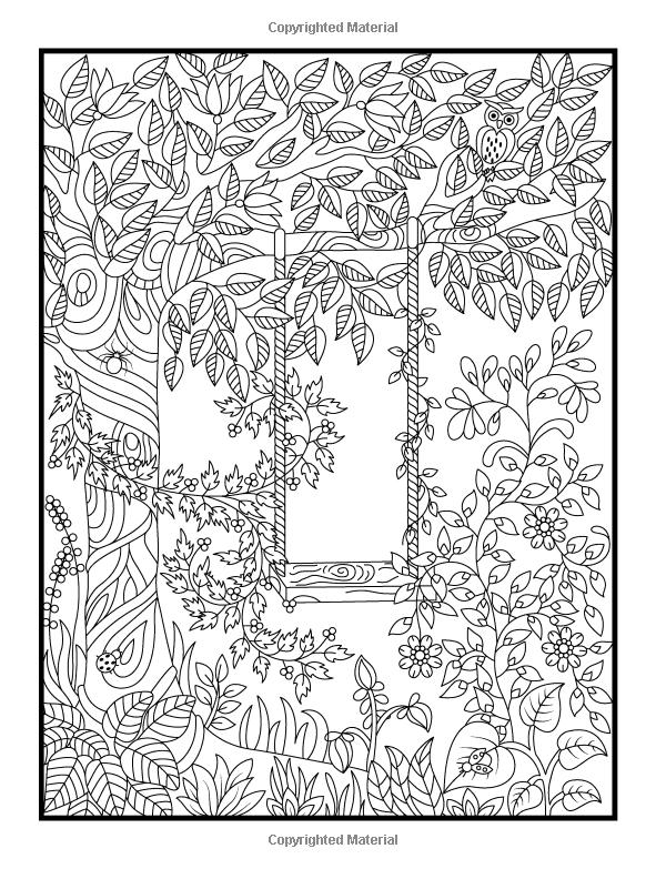 secret garden coloring book animals surlalune fairy tales blog art thursday enchanted forest garden secret animals coloring book