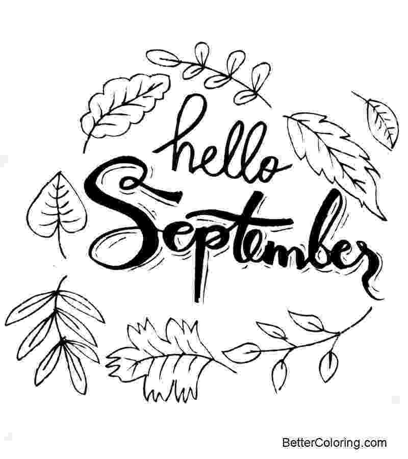 september coloring pages hello september coloring pages free printable coloring pages september pages coloring