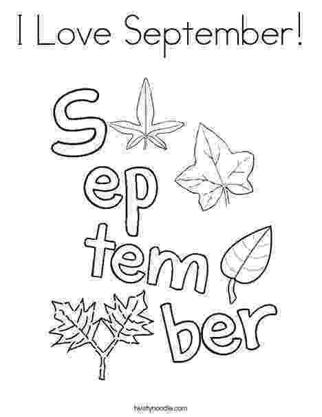 september coloring pages i love september coloring page twisty noodle months of pages september coloring