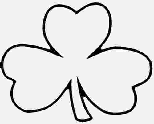 shamrock coloring early play templates st patrick39s day shamrock templates coloring shamrock