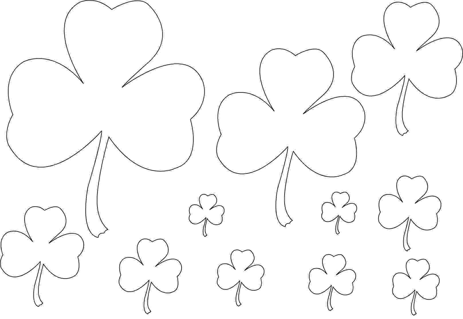 shamrock coloring free printable shamrock coloring pages for kids shamrock coloring 1 1