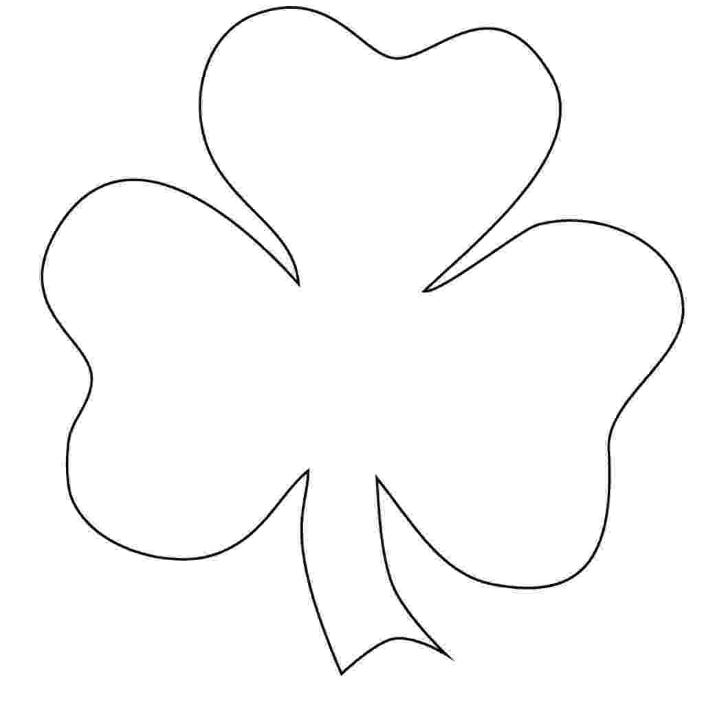 shamrock coloring free printable shamrock coloring pages for kids shamrock coloring 1 2