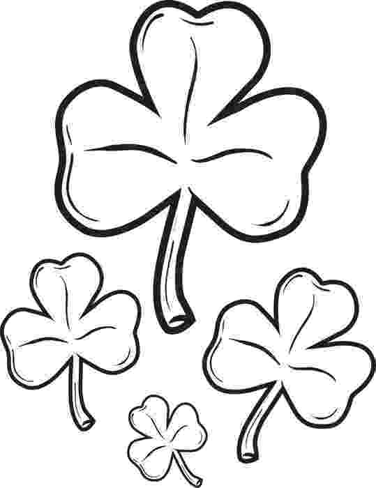 shamrock coloring free printable shamrock coloring pages for kids shamrock coloring 1 5