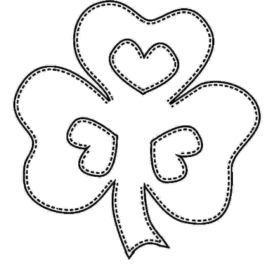 shamrock coloring free printable shamrock coloring pages for kids shamrock coloring 1 6