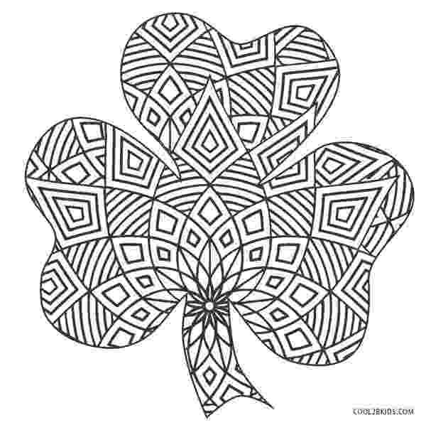 shamrock coloring shamrock figure craft st patrick39s day march monthly coloring shamrock