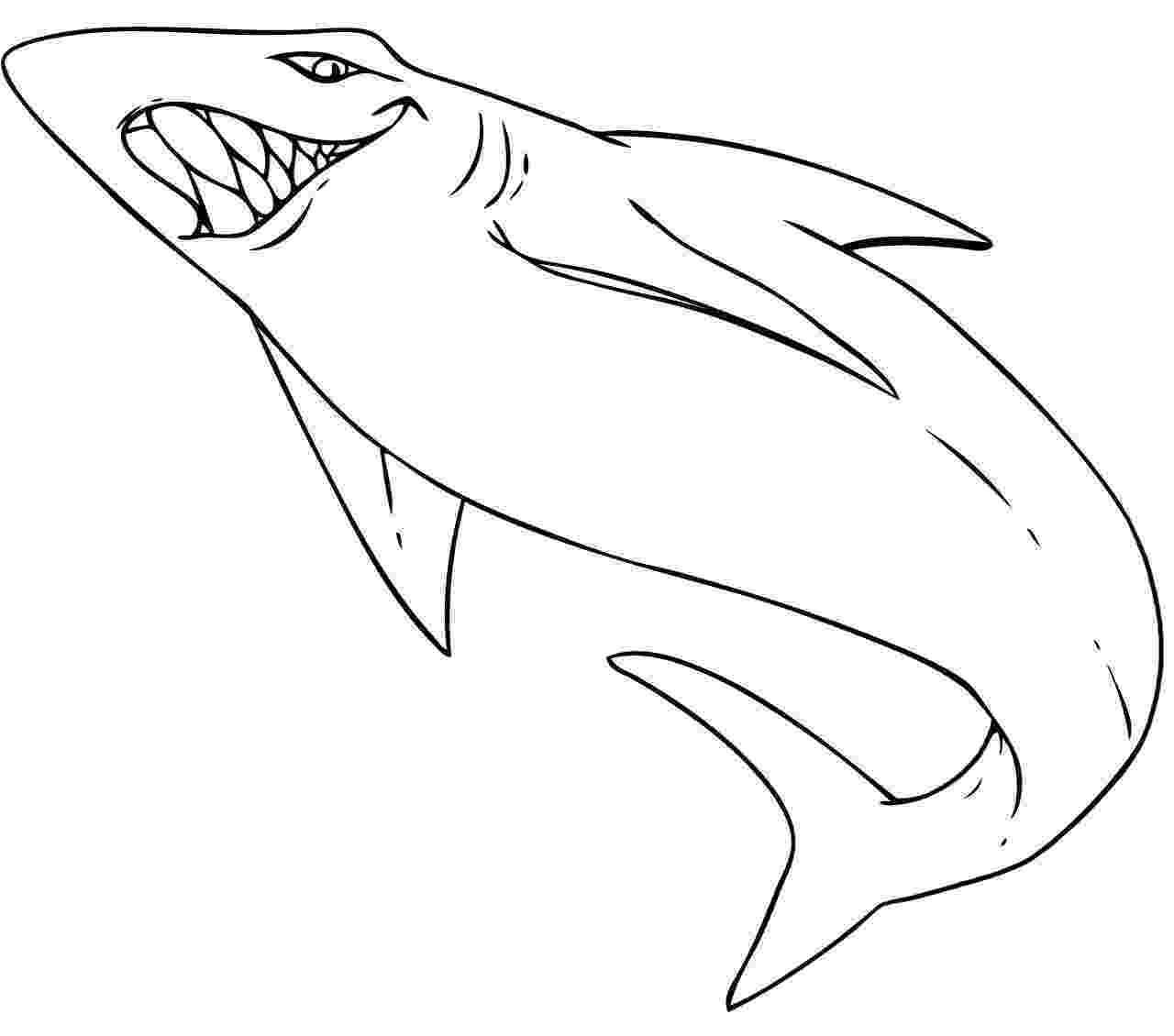 sharks to color free printable shark coloring pages for kids to sharks color