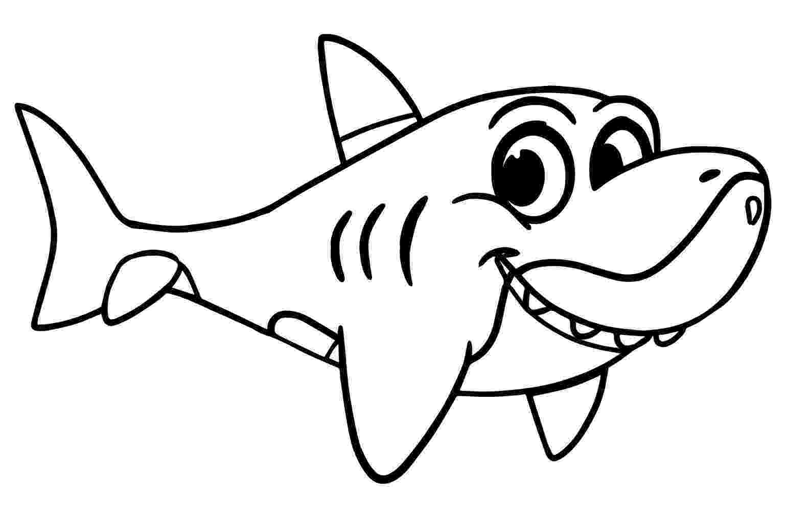 sharks to color sharks to color for children sharks kids coloring pages color to sharks