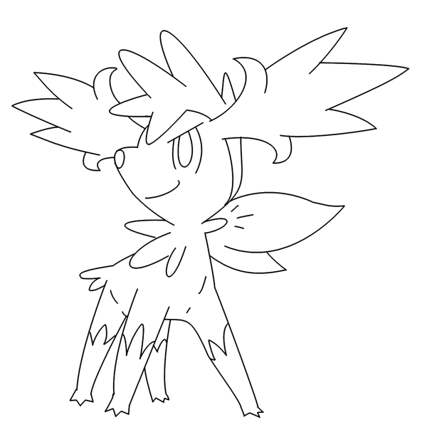 shaymin pokemon coloring pages free shaymin fly form template by behindclosedeyes00 on pokemon pages shaymin coloring