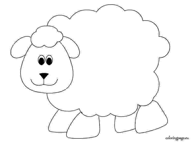 sheep printable lamb coloring pages getcoloringpagescom sheep printable