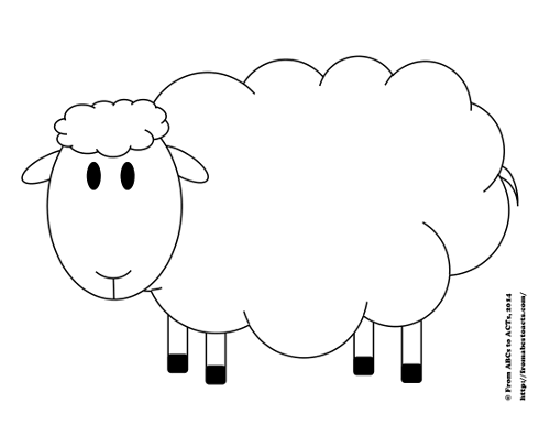 sheep printable sheep templates printable clipart best sheep printable