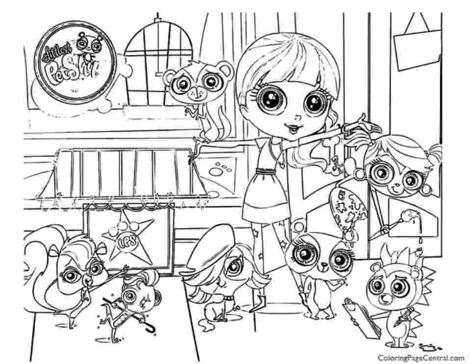 shop coloring page free printable littlest pet shop coloring pages page coloring shop