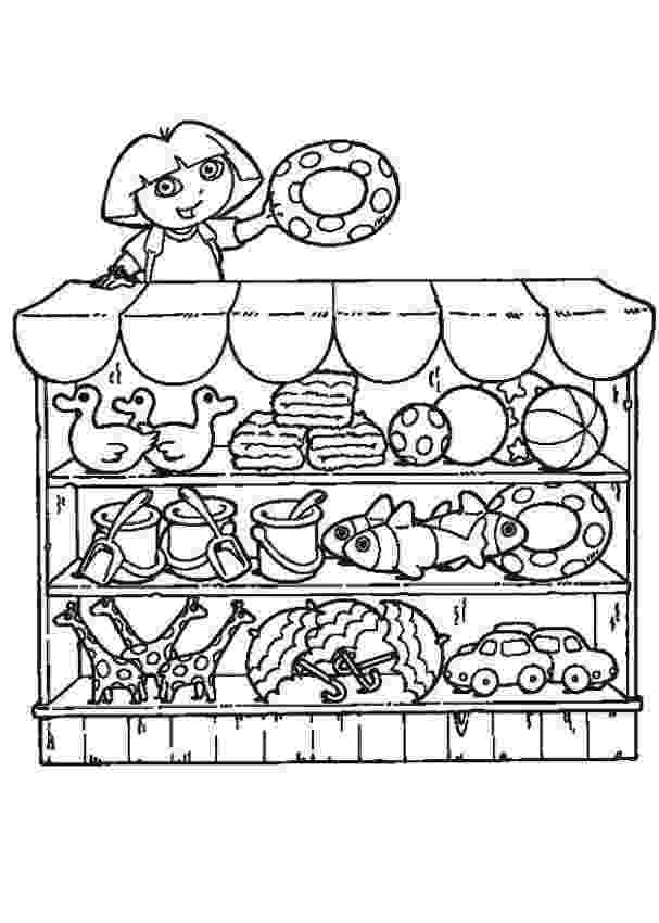 shop coloring page shop colouring pages page 3 of 3 kiddicolour coloring shop page