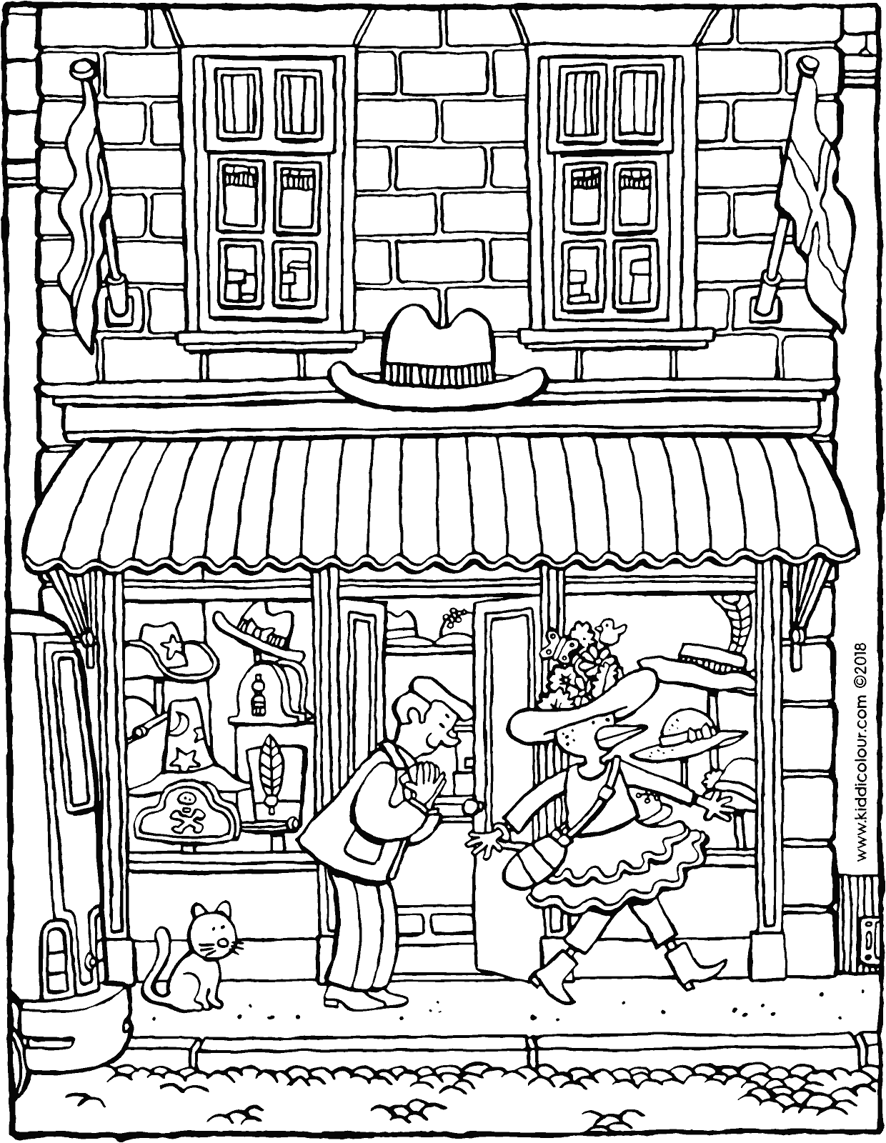 shop coloring page toy shops colouring pages chitty chitty bang bang coloring page shop