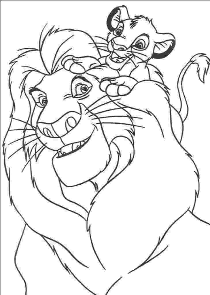 simba coloring page the lion king coloring pages disneyclipscom simba page coloring