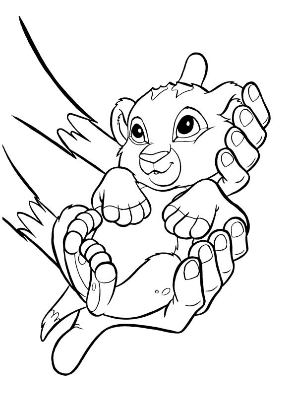 simba coloring page the lion king printable coloring pages 2 disney coloring coloring simba page