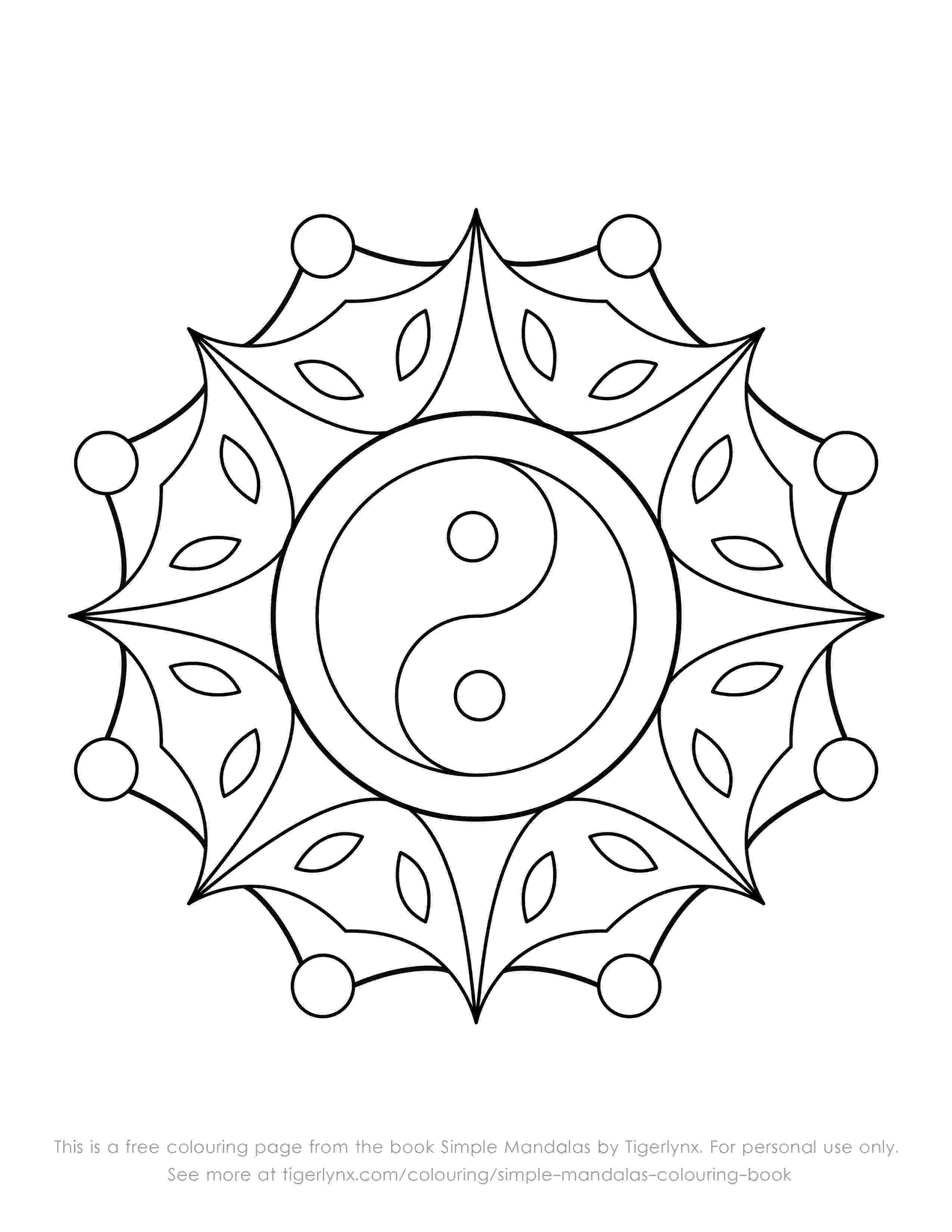 simple mandalas to color art therapy coloring pages to download and print for free mandalas color to simple