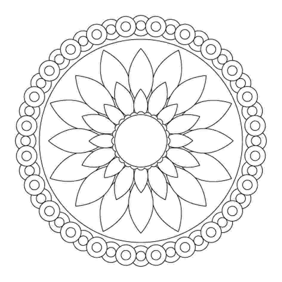 simple mandalas to color colouring mandalas flourish yoga mandalas simple to color