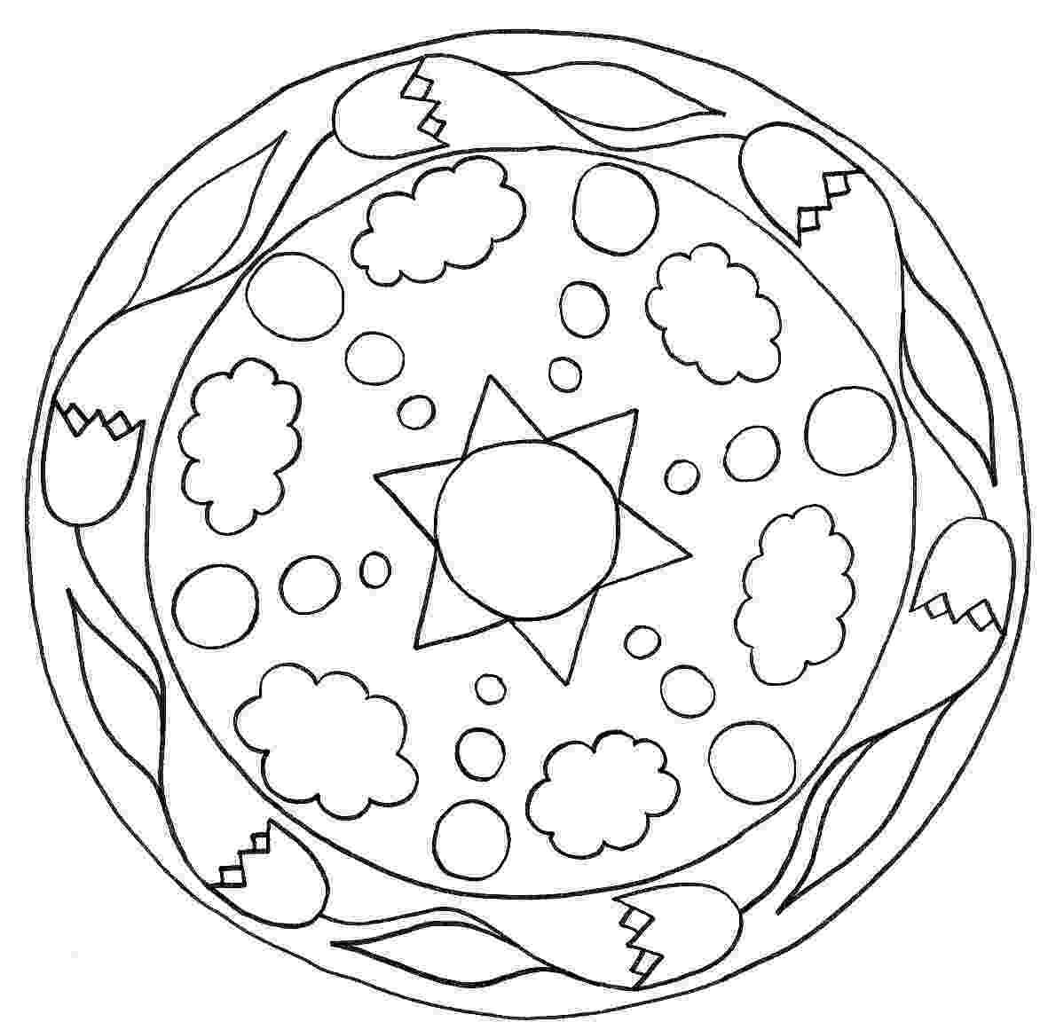simple mandalas to color easy mandala coloring page getcoloringpagescom to color mandalas simple