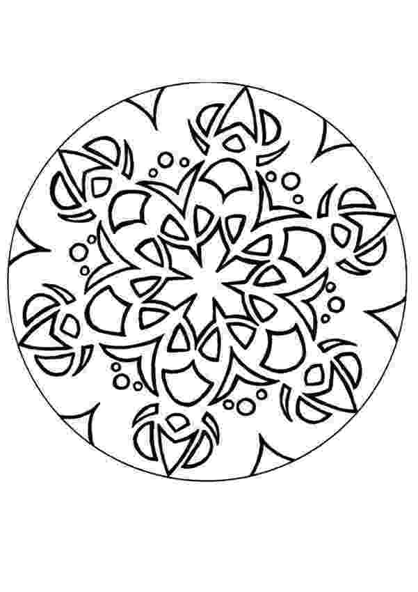 simple mandalas to color how to draw a mandala with free coloring pages to mandalas simple color