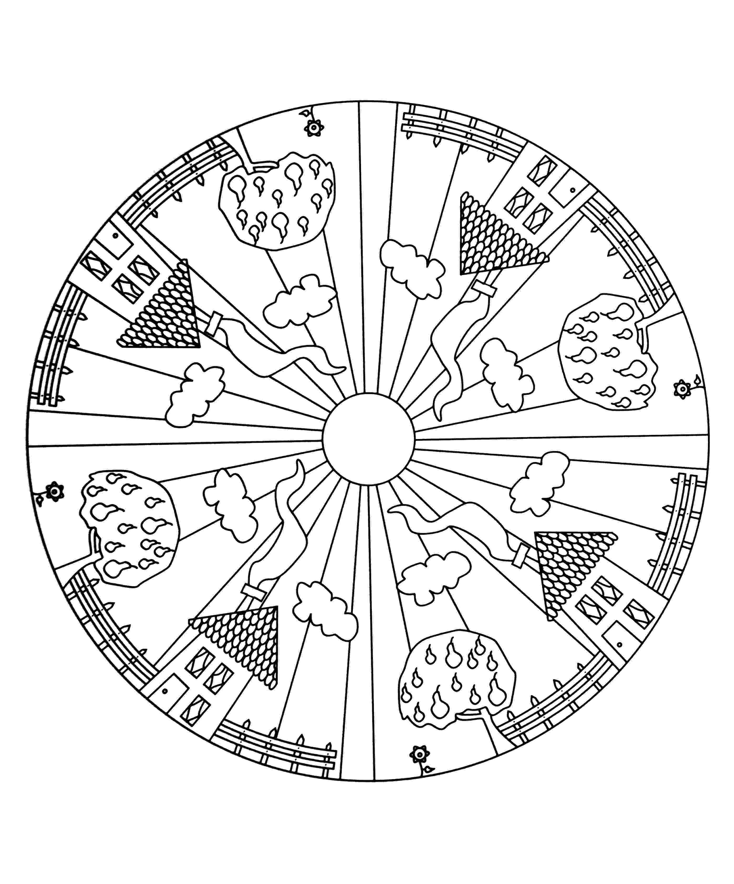 simple mandalas to color mandala coloring pages for kids to download and print for free color to mandalas simple