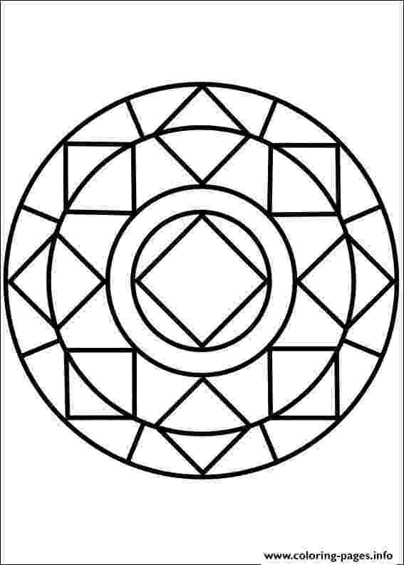 simple mandalas to color mandala simple symmetry coloring page coloringcrewcom color mandalas to simple