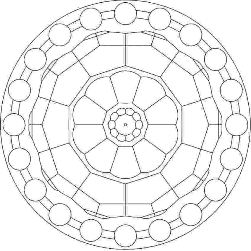 simple mandalas to color simple geometric mandala coloring page free printable color mandalas simple to