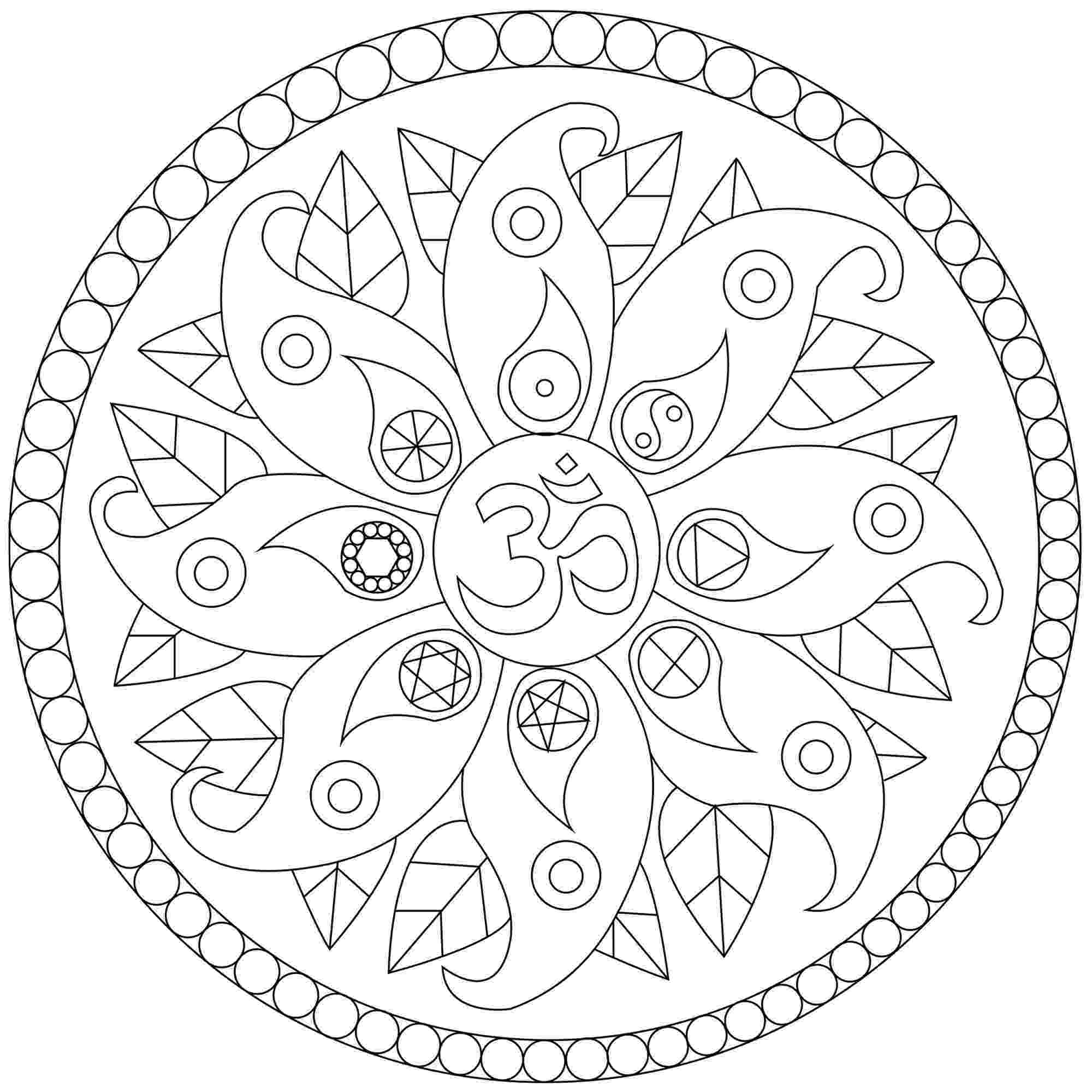 simple mandalas to color simple mandala 3 malas coloring pages for kids to print mandalas to color simple