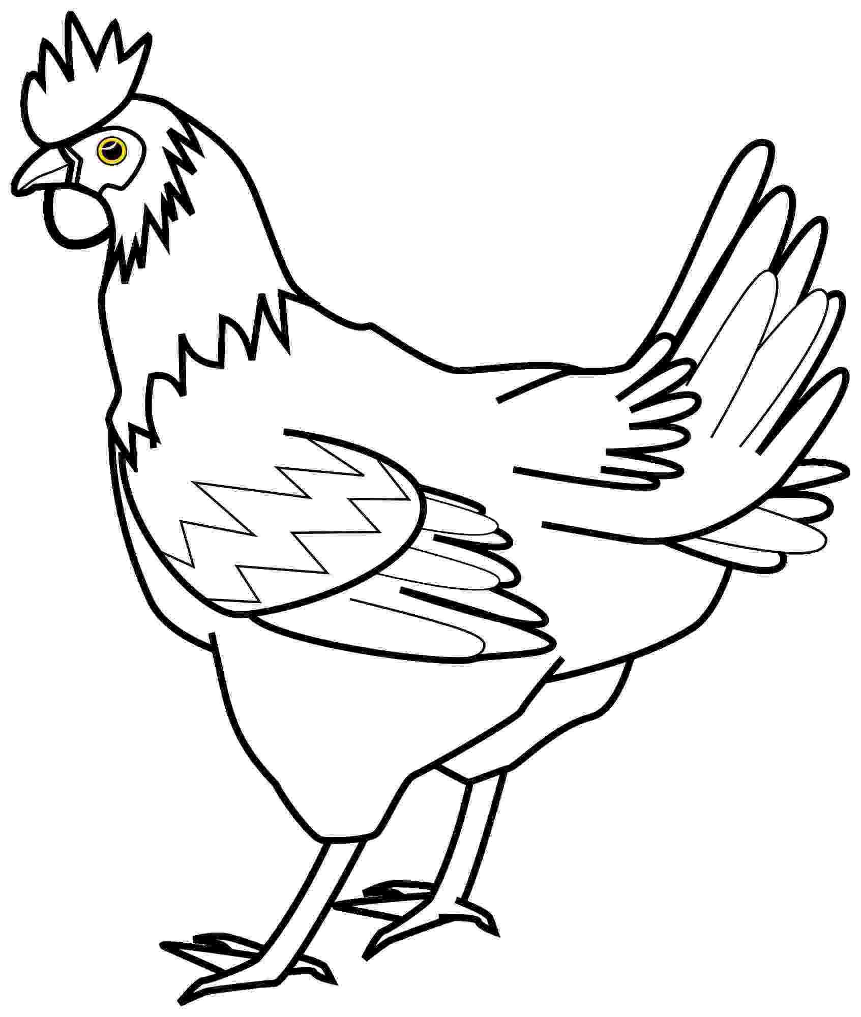 sketch of hen hen artistic red sketch of hen