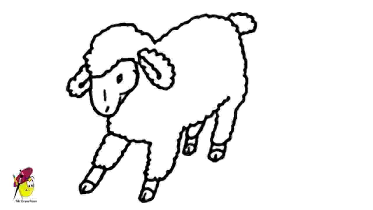 sketch of sheep farm sheep how to draw a sheep farm animals easy sketch of sheep