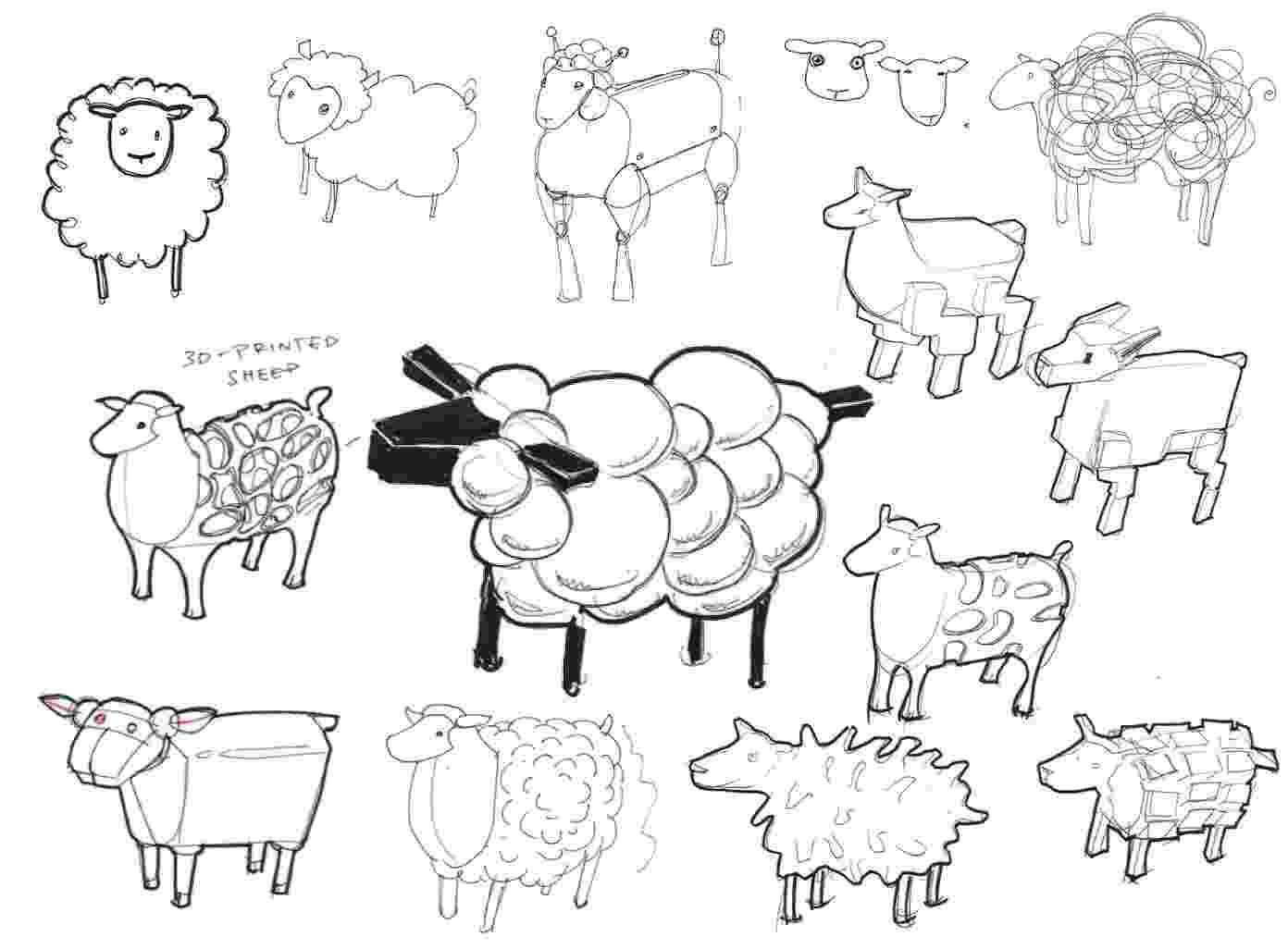 sketch of sheep sheep shape designing a divine 3d ovine for 39leo39 make sheep sketch of