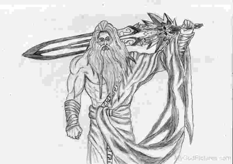 sketch of zeus drawing of zeus god pictures drawings zeus god god of sketch zeus