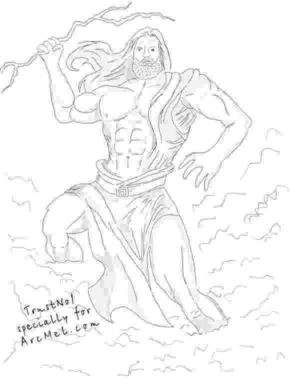 sketch of zeus god zeus god pictures of zeus sketch