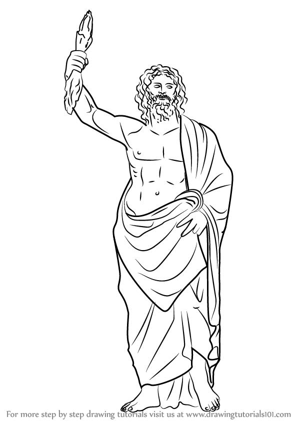 sketch of zeus how to draw zeus greek god step by step drawing tutorials sketch zeus of