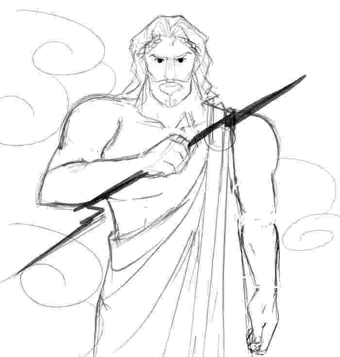 sketch of zeus sketches of zeus greek god coloring pages zeus sketch of
