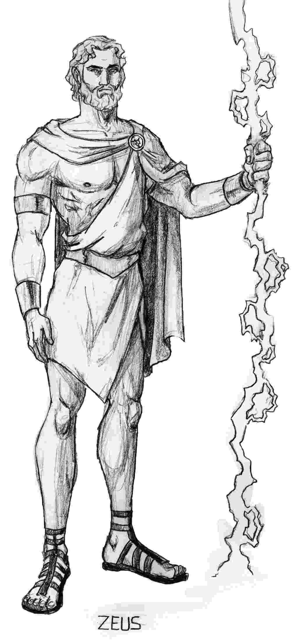sketch of zeus zeus creates a new god sketch drawing cartoon funny zeus sketch of