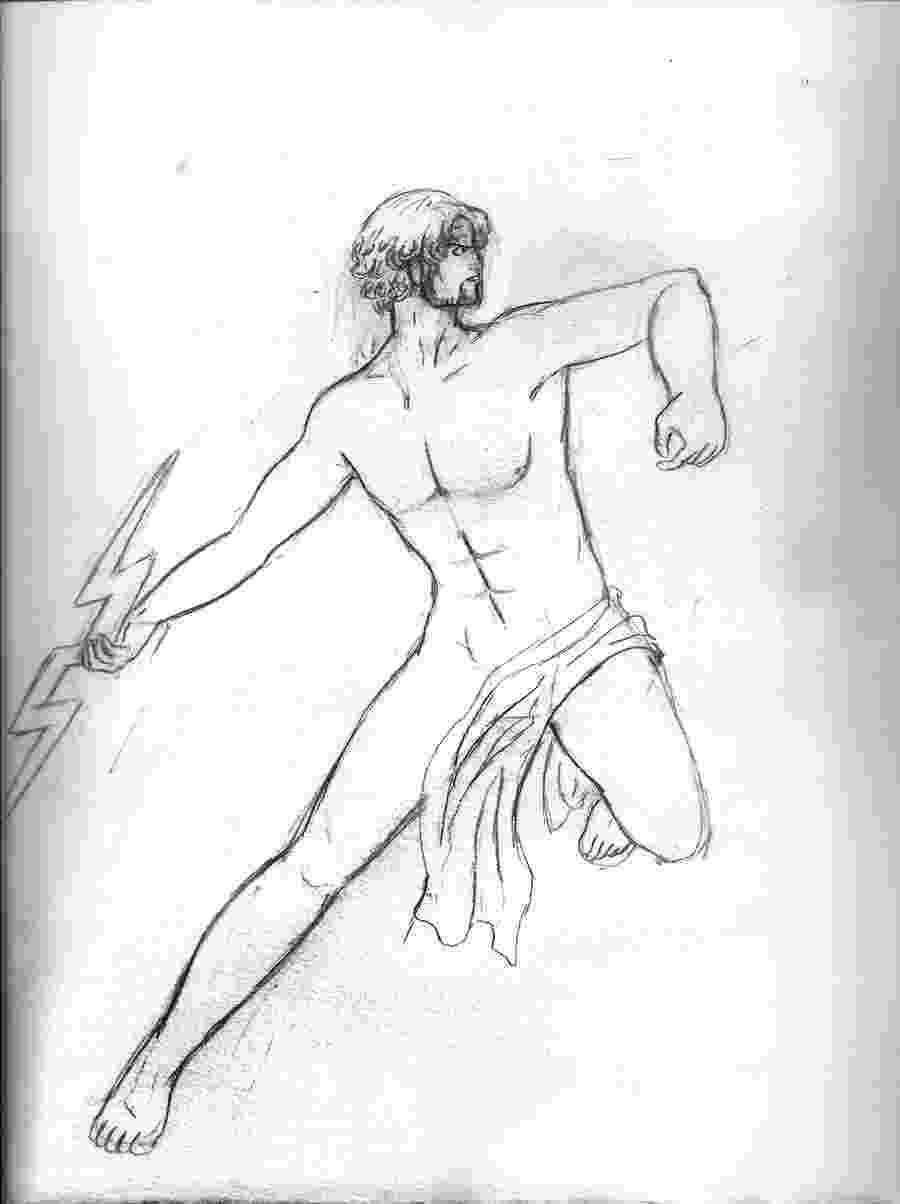 sketch of zeus zeus jupiter drawing by granger zeus sketch of