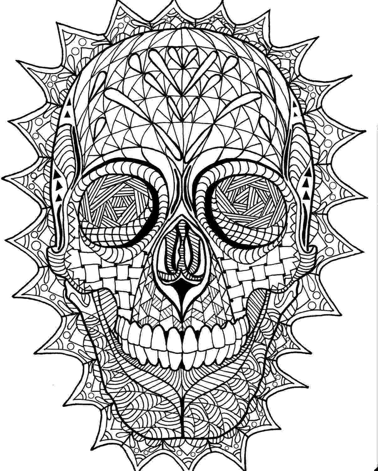 skulls coloring pages coloring page zentangle sugar skull digital coloring pdf pages skulls coloring