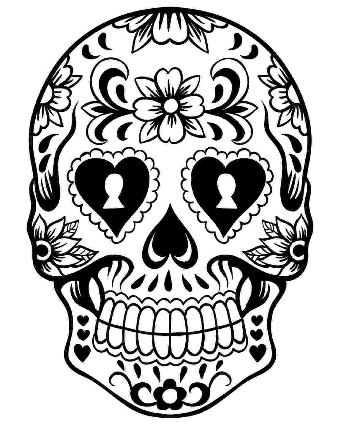 skulls coloring pages free printable day of the dead coloring pages best pages skulls coloring