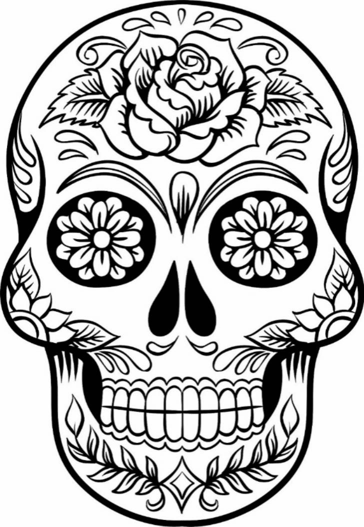 skulls coloring pages print download sugar skull coloring pages to have skulls coloring pages