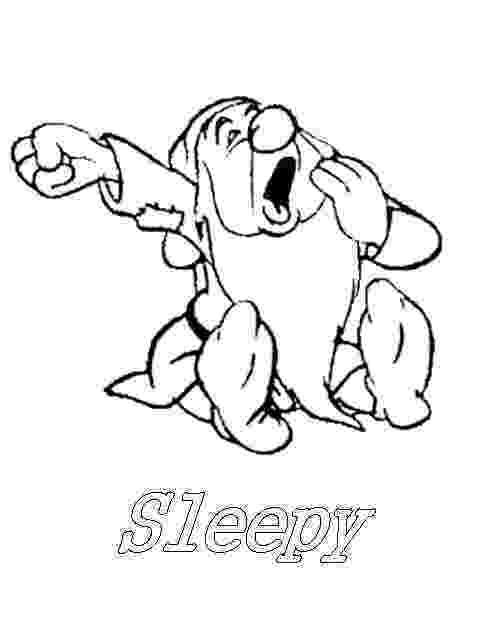 sleepy dwarf snow white and the seven dwarfs sleepy dwarf coloring dwarf sleepy