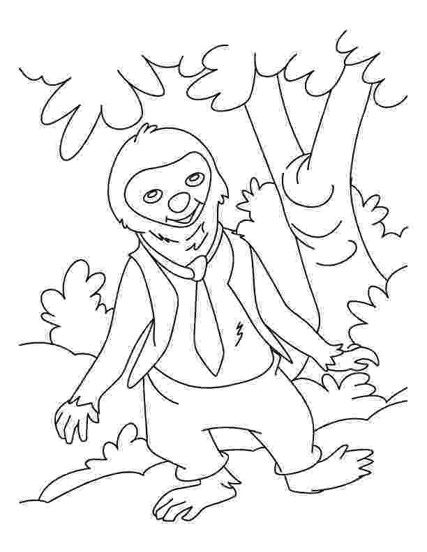 sloth coloring pages i came down from the tree coloring pages download free i sloth coloring pages