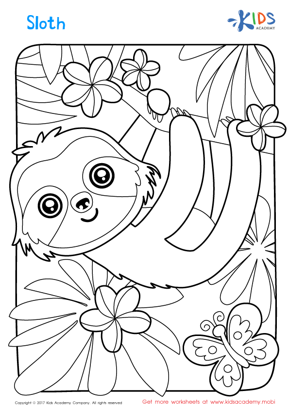 sloth coloring pages kari winters childrens39 book author drama in education coloring sloth pages