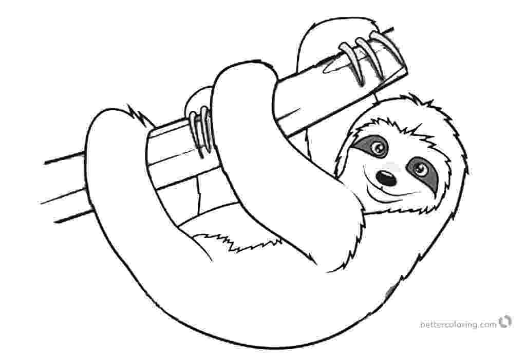 sloth coloring pages sloth coloring pages realistic three toed sloth free sloth pages coloring