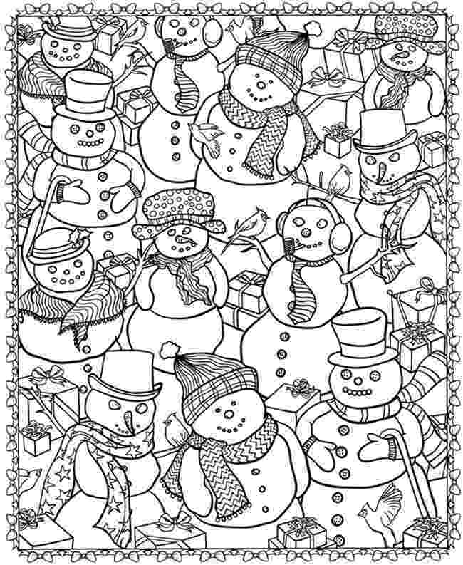 snowman color page 21 christmas printable coloring pages page color snowman